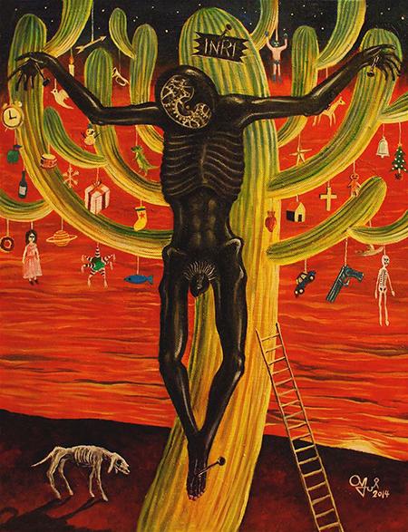 Cristo y Cactus