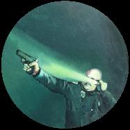 Peace-officer,-2019-acrilico-sobre-tela,-20-cms-de-diametro.