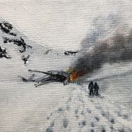 Sobrevivientes, 2019, acrilico sobre tela, 12 x 15 cms.