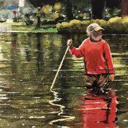 The old man in the water...2019 acrilico sobre tela, 12 x 15 oleo sobre tela